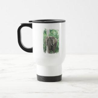 Tusked Elephant  Plastic Travel Mug