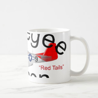 Tuskegee Airman P-51 Red Tails Mustang Classic White Coffee Mug