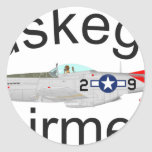 Tuskegee Airman P-51 Red Tails Mustang Sticker