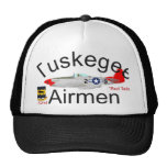 Tuskegee Airman P-51 Red Tails Mustang Trucker Hat