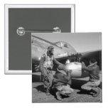Tuskegee Airmen, 1945 2 Inch Square Button