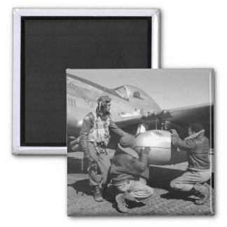 Tuskegee Airmen, 1945 2 Inch Square Magnet