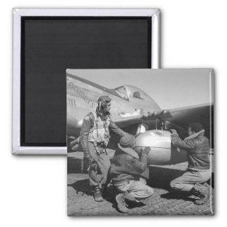 Tuskegee Airmen, 1945 Imán Cuadrado
