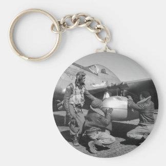 Tuskegee Airmen, 1945 Llavero Redondo Tipo Pin