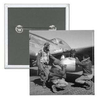Tuskegee Airmen, 1945 Pin Cuadrado