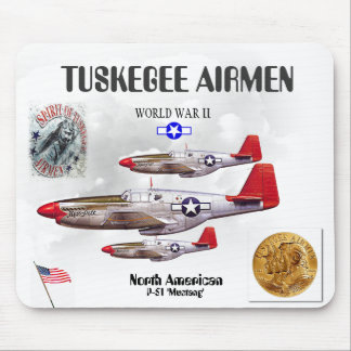 TUSKEGEE AIRMEN -301st Fighter Sq.- WW II Mouse Pad