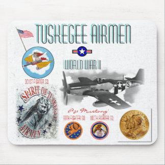 TUSKEGEE AIRMEN -301st Fighter Sq.- WW II Mousepad