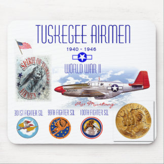 TUSKEGEE AIRMEN -301st Fighter Sq.- WW II Mouse Pads