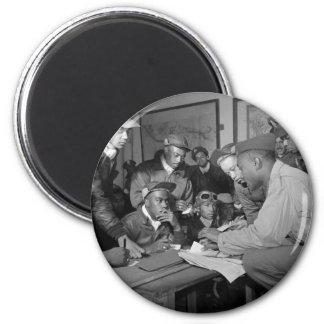 Tuskegee Airmen 332nd Fighter Group Pilots 2 Inch Round Magnet