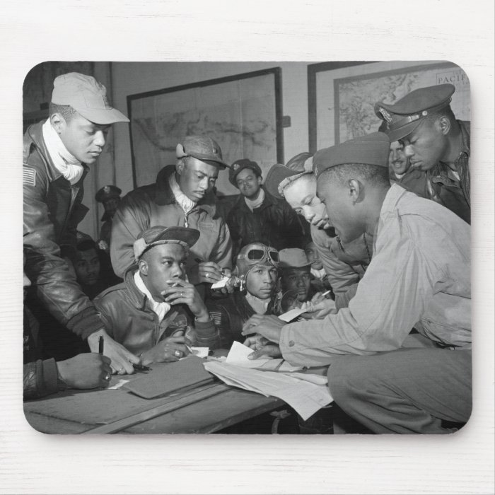 Tuskegee Airmen 332nd Fighter Group Pilots Mouse Pad