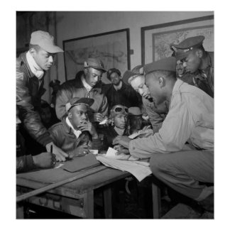 Tuskegee Airmen 332nd Fighter Group Pilots Poster