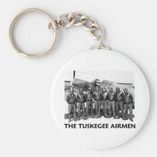 Tuskegee Airmen Basic Round Button Keychain