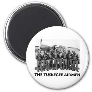 Tuskegee Airmen 2 Inch Round Magnet