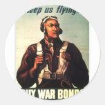 Tuskegee Airmen, Red Tail War-bond Classic Round Sticker
