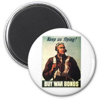 Tuskegee Airmen, Red Tail War-bond 2 Inch Round Magnet