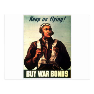 Tuskegee Airmen, Red Tail War-bond Postcard