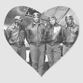 tuskegee airmen heart sticker