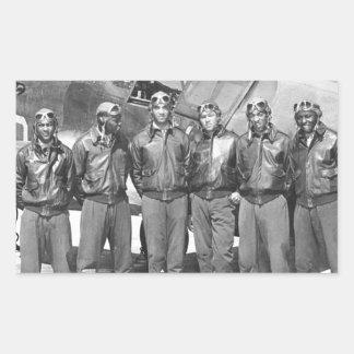 tuskegee airmen rectangular sticker