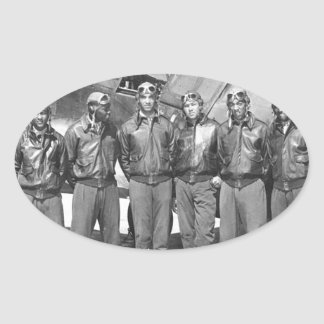 tuskegee airmen oval sticker