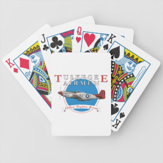 Tuskegee Red Tails Bicycle Playing Cards