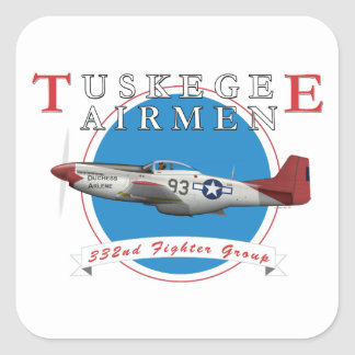 Tuskegee Red Tails Square Sticker