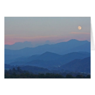 Tusquittee Moonrise Card