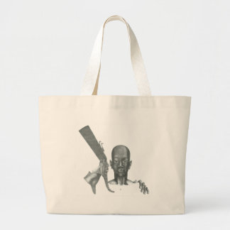 Tut in no 2 pencil by Theo Walker Large Tote Bag