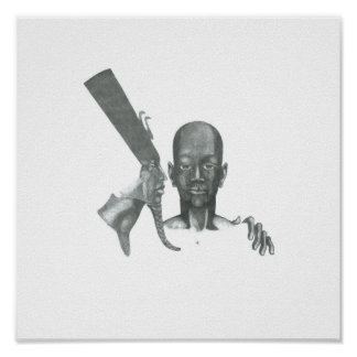 Tut in no 2 pencil by Theo Walker Poster