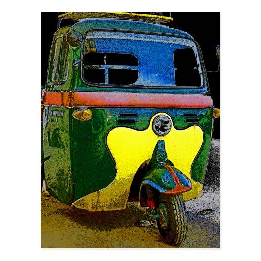 Tut Tut 3 Wheeled Vehicle Postcard
