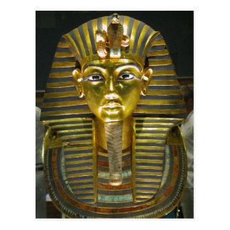 tutankamen coffins masks postcard