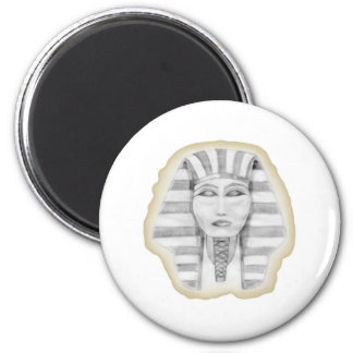 Tutankhamen (papiro) imán redondo 5 cm