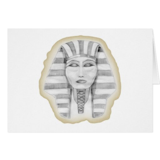 Tutankhamen (papiro) tarjeta de felicitación