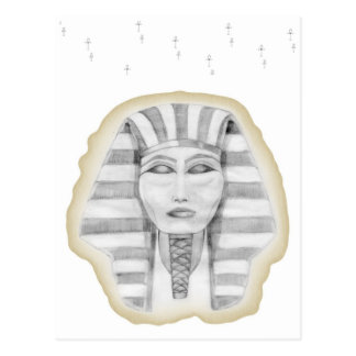Tutankhamen (papiro) tarjeta postal