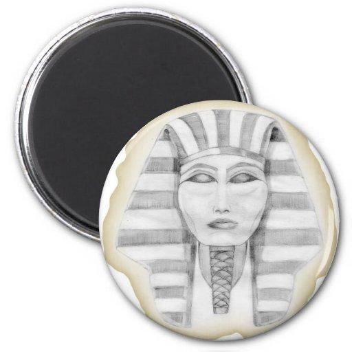 Tutankhamen (papyrus) fridge magnet
