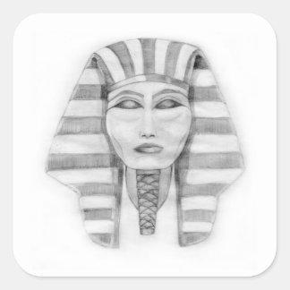 Tutankhamen Square Sticker