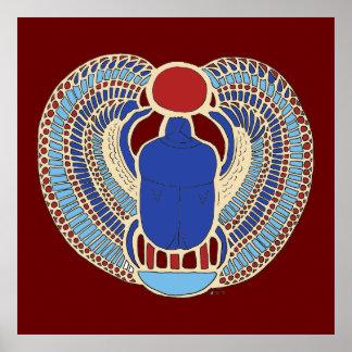 Tutankhamon Hieroglyph Poster