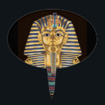 """Tutankhamon's Golden Mask Cake Topper<br><div class=""""desc"""">This is Tutankhamon&#39;s famlous golden mask. If you&#39;d like to try coloring it,  you can download the drawing for free at www.online-coloring-books.com/adult-coloring-pages.html</div>"""
