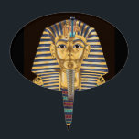 "Tutankhamon's Golden Mask Cake Topper<br><div class=""desc"">This is Tutankhamon&#39;s famlous golden mask. If you&#39;d like to try coloring it,  you can download the drawing for free at www.online-coloring-books.com/adult-coloring-pages.html</div>"