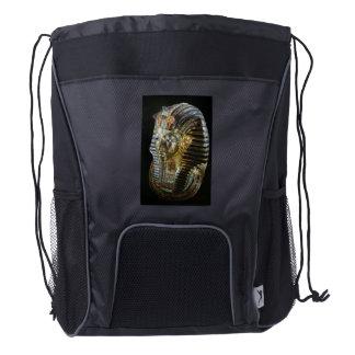 Tutankhamon's Golden Mask Drawstring Backpack