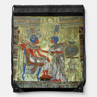 Tutankhamon's Throne Drawstring Bag