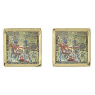 Tutankhamon's Throne Gold Cufflinks