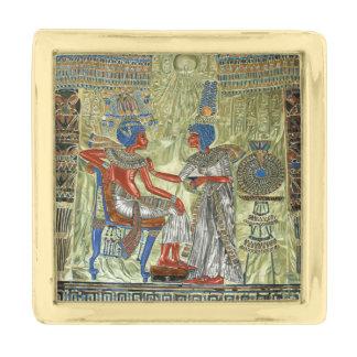 Tutankhamon's Throne Gold Finish Lapel Pin