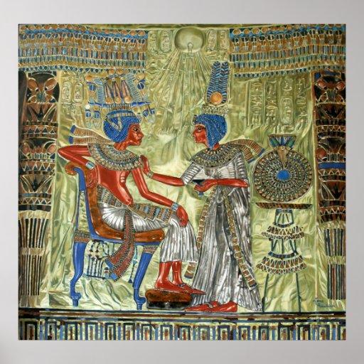 Tutankhamon's Throne Poster