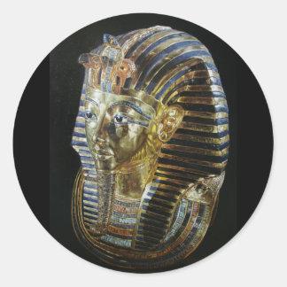 Tutankhamon's Golden Mask Classic Round Sticker