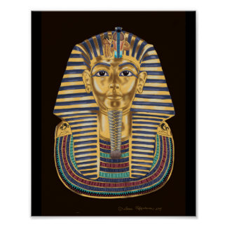 Tutankhamon's Golden Mask Poster