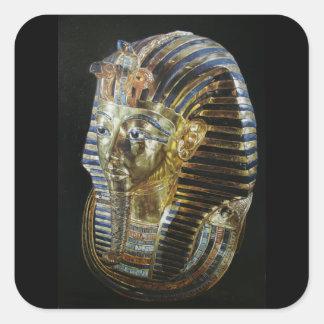Tutankhamon's Golden Mask Square Sticker