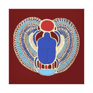 Tutankhamon's Hieroglyph Stretched Canvas Prints