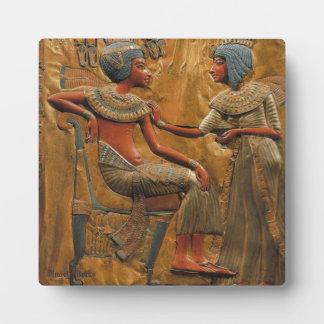 Tutankhamun and Ankhesenamun Plaque
