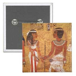 Tutankhamun  and his wife, Ankhesenamun 2 Inch Square Button