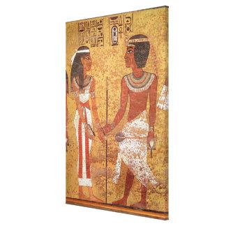 Tutankhamun  and his wife, Ankhesenamun Canvas Print